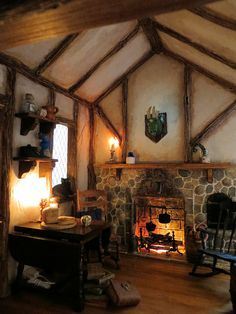 Black Cat Landing by Kelly Morin - interior with fireplace