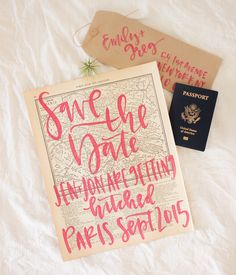 #DIY Vintage Map Save the Dates
