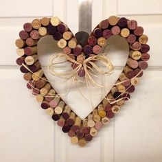 Heart Shaped Valentine Wreath, Cork Wreath, Wine, Home Decor, Wreath, Holiday, Heart, Love on Etsy, $25.00
