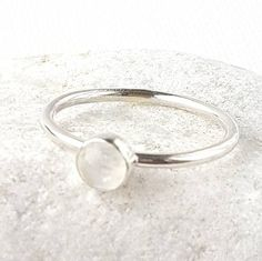 Excited to share the latest addition to my #etsy shop: Sterling silver ring, stacker ring, gemset stacker ring, dainty gemstone ring, minimalist silver ring, pastel colour sterling silver ring, #jewelry #ring #silver #girls #sterlingsilverring #fashionablerings #round #moonstone https://etsy.me/2jgNyvG