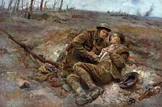 1916 The Last Message - If You get through, tell my mother…- Fortunino Matania