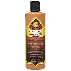 One 'n Only Argan Oil Moisture Repair Shampoo~ This is incredibly thick and creamy.  Great for use after using hair dye or highlights, puts a lot of moisture back in to your hair.