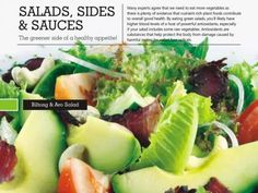 Salads, Sides & Sauces - The greener side of a healthy appetite!