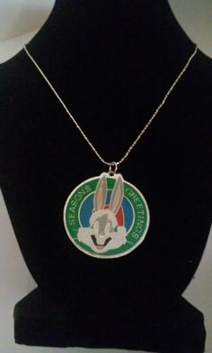 The pendant came from an ornament. Bugs bunny seasons greetings necklace. | Shop this product here: spreesy.com/britsstuff/33 | Shop all of our products at http://spreesy.com/britsstuff    | Pinterest selling powered by Spreesy.com