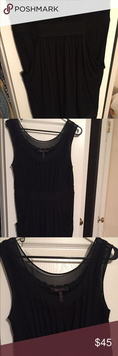 Bcbg black dress Dress it up or down for a formal event or even to work with a blazer or cardigan! Great for summer and winter. BCBGMaxAzria Dresses Midi
