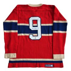 Maurice Richard Montreal Canadiens Signed Vintage Wool Jersey