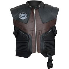The Avengers Hawkeye Real Brown Leather Vest BEST SELLER ($169) ❤ liked on Polyvore