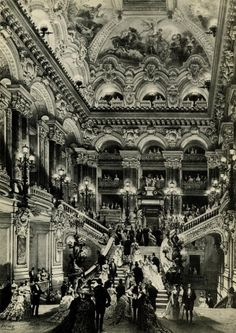Phantom of the Opera has ruined my life French Architecture, Classical Architecture, Vintage Prints, Vintage Photos, Paris Opera House, Art Watch, Ballet, Phantom Of The Opera, New York Public Library