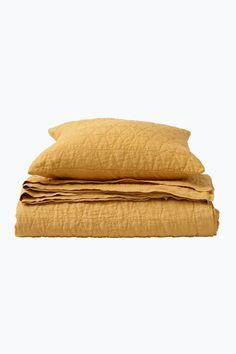 Ellos Home Sengetæppe Candice af vasket hør cm My Room, Ottoman, Quilt, Home Decor, Yellow, Homemade Home Decor, Kilts, Decoration Home, Duvet