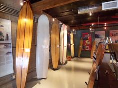 Historic surfboards at the California Surf Museum in Oceanside CA