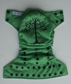 Lord of the Rings Inspired Applique One Size Pocket Diaper :: Make It Canadian Eh In-stock Store
