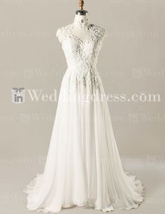 Vintage Style Wedding Dress with Lace Bodice BG171