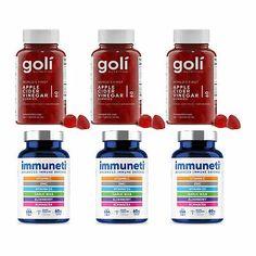 Goli Nutrition Apple Cider Vinegar Gummy Vitamins and Defense Capsule 6Pk Bundle   eBay