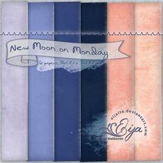 New Moon on Monday paper pack by Eijaite.deviantart.com on @DeviantArt