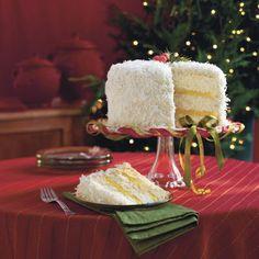 Lemon coconut cake- or just try regular coconut cake (F.F. recipe).