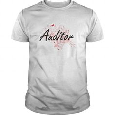 Cool Auditor Artistic Job Design with Butterflies Shirts & Tees #tee #tshirt #Job #ZodiacTshirt #Profession #Career #auditor