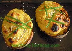 Sweet potatoes baked twice.  http://www.recetasytecnicas.com/cocina/batatas-camotes-horneadas-dos-veces