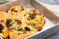 Bacon, Broccoli, and Cheddar Roll-Ups
