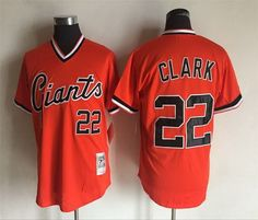 San Francisco Giants Mens Jerseys 22 CLARK Throwback Baseball Jerseys