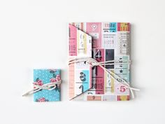Things I've Made From Things I've Pinned: Diy Shipping Tag Mini Notebooks.