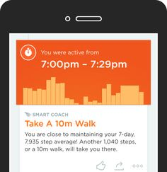 Screenshot of a Smart Coach insight in the UP App