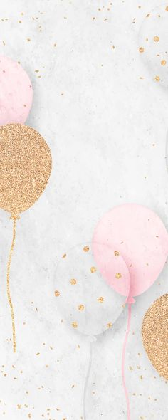 Pink And Gold Background, Balloon Background, Invitation Background, Birthday Background Wallpaper, Cake Background, Background Designs, Girl Background, Floating Balloons, Colourful Balloons