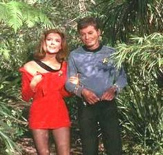 Yeoman Tonia Barrows (Emily Banks) & Dr. McCoy (DeForest Kelley) - Star Trek: The Original Series S01E15: Shore Leave (First Broadcast: December 29, 1966)