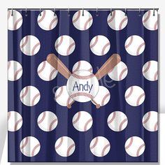 Baseball Personalized Shower Curtain Standard 69x70 By Limerikeedesigns On  Etsy Https://www.