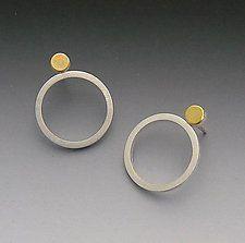 Gold & Silver Earrings by ELISA BONGFELDT-USA