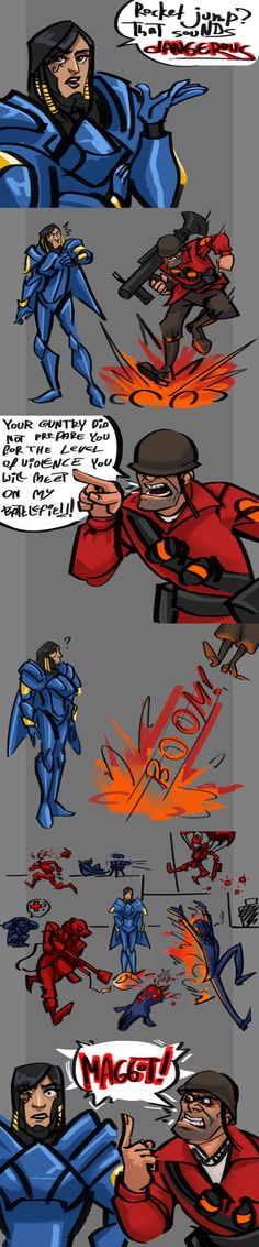 TF2 is more awesomely violent than Overwatch << especially the hoovy cruelty