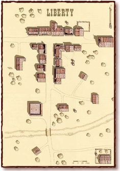 Aces and Eights/Old West maps needed. Fantasy City Map, Fantasy World Map, Forte Apache, West Map, Western Games, Aces And Eights, Old Western Towns, Pen & Paper, Old West Town