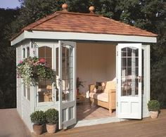 Malvern Ashton x garden shed diy Milford Cedar Summer House Backyard Studio, Backyard Sheds, Backyard Patio, Pool Shed, Backyard Office, Outdoor Office, Outdoor Sheds, Backyard Retreat, Garden Office