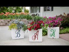 Monogrammed Cinder Block Planter // Garden Answer - YouTube