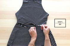How to turn a dress into two rad separates! #tutorial from Free Series #howto #upcycle #refashion
