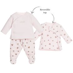 Absorba Baby Girls Pink Padded Babysuit Set at Childrensalon.com