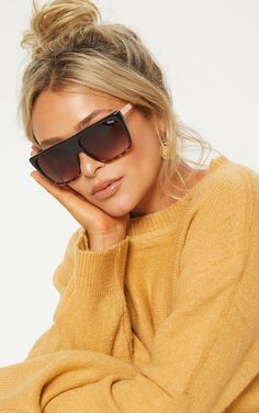 The Quay Australia Brown Otl Ii Sunglasses. Head online and shop this season's range of accessories at PrettyLittleThing. Round Lens Sunglasses, Flat Top Sunglasses, Quay Sunglasses, Oversized Sunglasses, Sunglasses Women, Sunnies, Sunglasses Storage, Costa Sunglasses, Trending Sunglasses