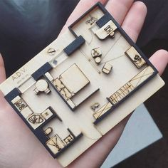 Amazing plan mini model by ⤵ Tag to share your works - image for you Maquette Architecture, Architecture Drawings, Architecture Plan, Interior Architecture, Scale Model Architecture, Amazing Architecture, Planer Layout, Arch Model, Autocad