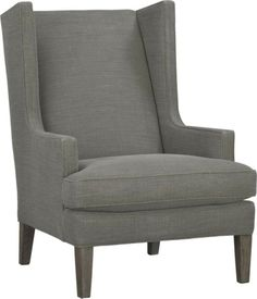 Crate & Barrel  Luxe Wing Chair