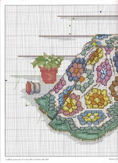 """Blue Ribbon Winner"" cross stitch design by Paula Vaughan. (1)  Found on foromanualidades.facilisimo.com"