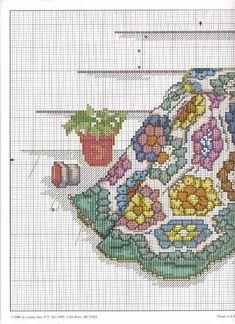 """Blue Ribbon Winner"" cross stitch design by Paula Vaughan. (1) Found on foromanualidades.facilisimo.com"