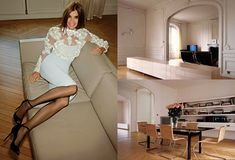 Carine Roitfeld's Paris Apartment | Featured on sharedesign.com.