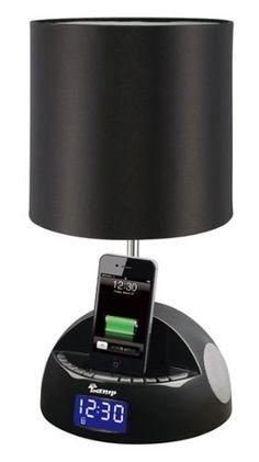 iBRIGHT LLC MyLamp iPod/iPhone Docking Station with FM Radio and Alarm Clock - Black:Amazon:MP3 Players & Accessories