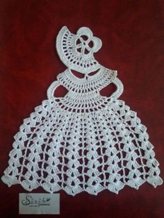 Crochet Crinoline Lady Doily lace Applique girl home decoration Mother day gift - Gift World Crochet Motifs, Crochet Doilies, Crochet Stitches, Crochet Crafts, Crochet Yarn, Crochet Projects, Crochet Granny, Crochet Patterns Free Women, Confection Au Crochet
