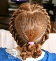Share the Hair: Valentines Hair 2012 | Chocolate Hair / Vanilla Care    Such amazing hairs styles for kids and grownups