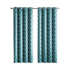 Kuhlmann Lattice Geometric Blackout Thermal Grommet Curtain Panels