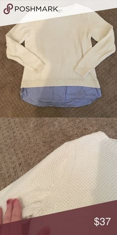 🎉 HOST PICK🎉 Dress shirt bottom sweater Super cute! Great condition Talbots Sweaters Crew & Scoop Necks