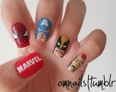 The Avengers Nails