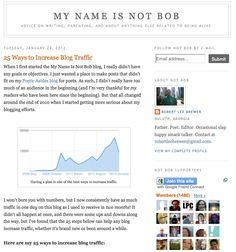 25 Ways To Increase Blog Traffic