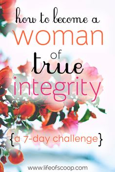 A 7-day challenge encouraging women to become people of integrity! Sometimes you're just unsure of the answer - yes or no - so you quickly say yes and forget the process of choosing wisely. THIS can diminish your integrity. Choose to battle against the desire to people-please & begin contemplating if saying yes is truly your best!
