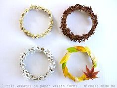 Easy Wreaths Made From Recycled Paper - Things to Make and Do, Crafts and Activities for Kids - The Crafty Crow